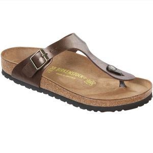 birkenstock gizeh semi metallic sandals size 41